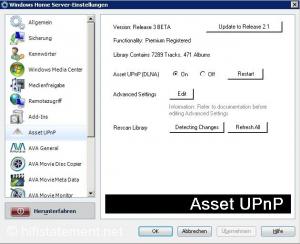 Zentrale Anlaufstelle: Wer will, kann einen Windows-Home-Server, so wie er auch im Asset-NAS zum Einsatz kommt, komfortabel von einem anderen Rechner aus steuern.