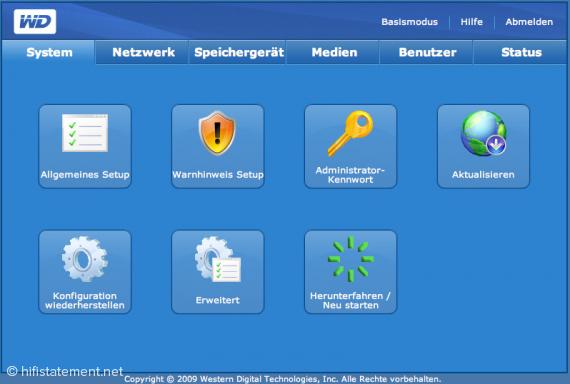 Alles vorhanden: Auch ein NAS-Laufwerk bietet umfangreiche Einstelloptionen.