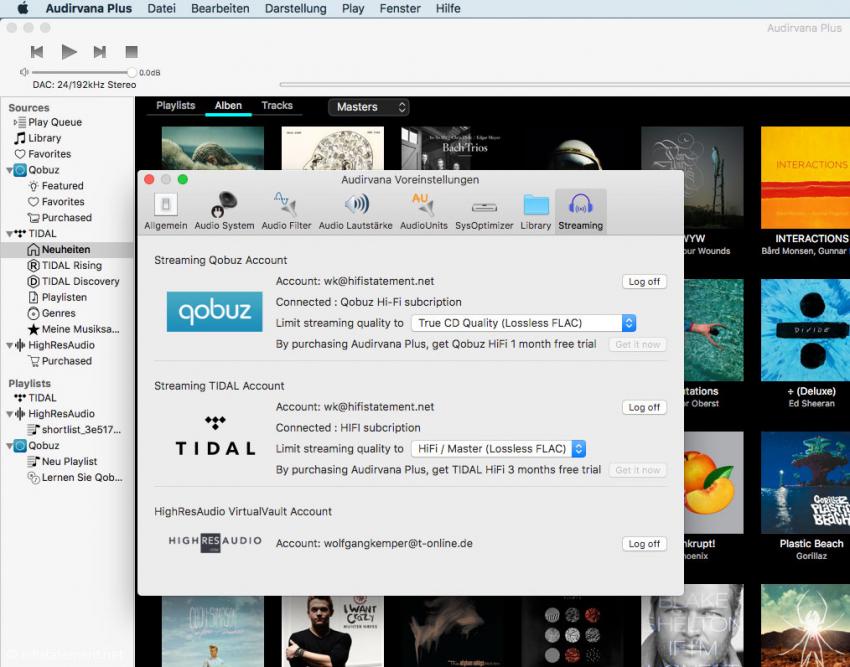 Über die neue 3.0 Version von Audirvana Plus lässt sich unkompliziert auf Musik im MQA-Format zugreifen, ganz gleich ob von Streaming Portalen oder vom Rechner