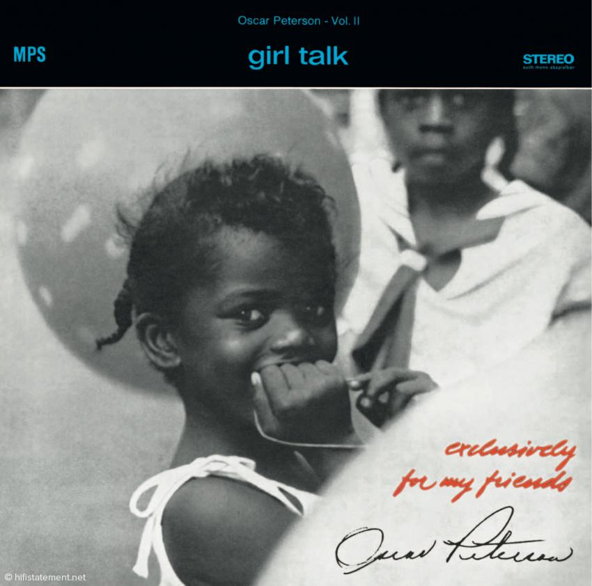 Girl Talk war die zweite Veröffentlichung der Serie, sie erschien noch im selben Jahr wie Action. Peterson spielt hier mit drei unterschiedlichen Trios, offensichtlich hatte er seine optimale Formation noch nicht gefunden. Die Aufnahmen wurden dementsprechend auch zu unterschiedlichen Zeiten gemacht