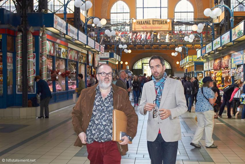 Zack und der Autor trafen sich in der Budapester Markthalle