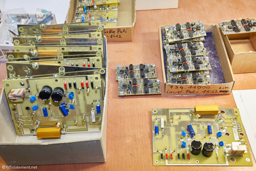 In Acapella's production halls, the PCB Boards for the Ion tweeters are assembled