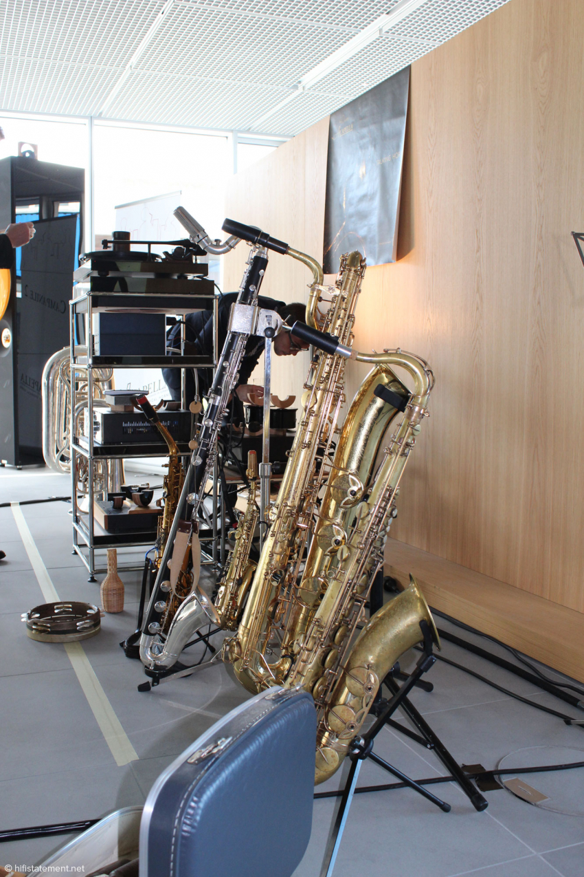 Das ist noch längst nicht alles: Die Talking Horns sind Multiinstrumentalisten