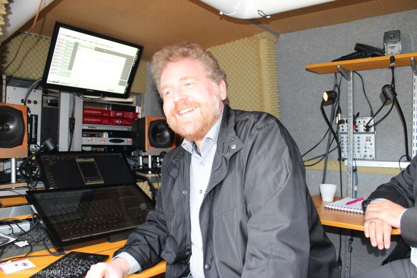Ralf Koschnicke in seinem Aufnahme-Van