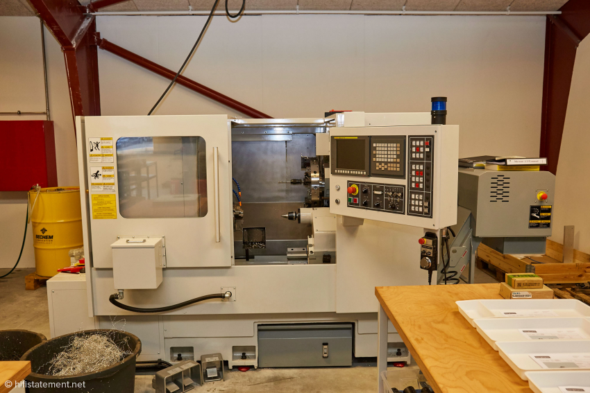 The very heart of the machinery: a CNC lathe and…