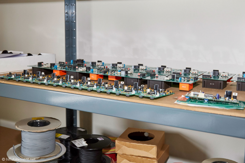 The equipped PCB's are supplied by an external company