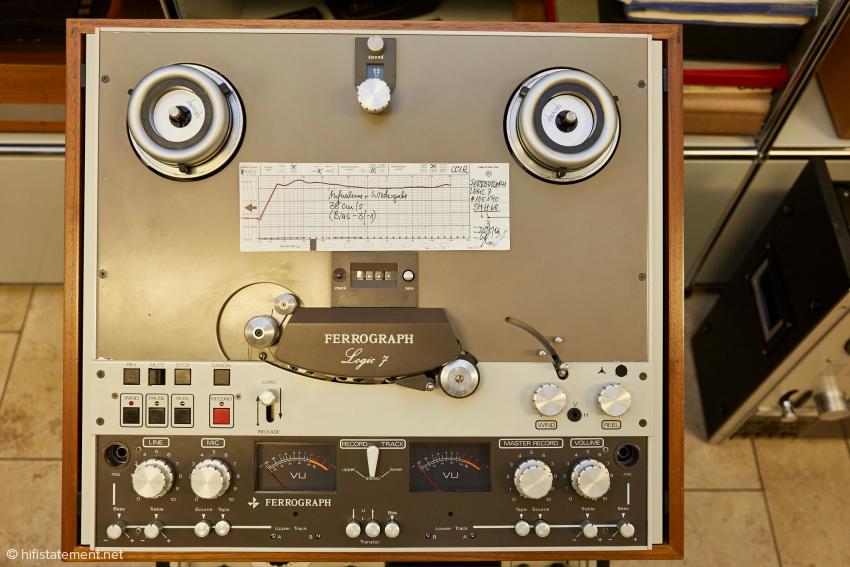 Auch diese faszinierende Ferrograph Logic 7 steht zum Verkauf, perfekt aufbereitet und eingemessen