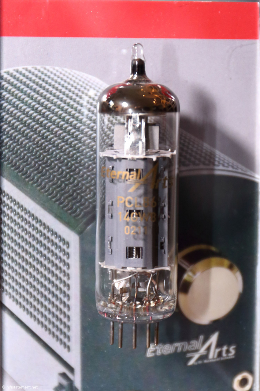 Die EternalArts eigene Leistungsröhre PCL86 wird nicht nur zur Restauration eingesetzt, sondern findet sich ebenfalls in den eigenen OTL-Komponenten