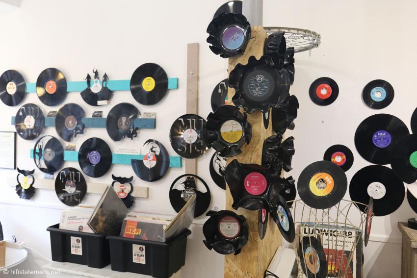 Verformtes und planes Vinyl