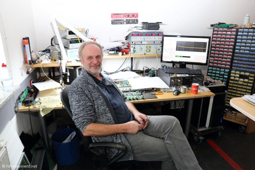 Der Firmengründer, Entwickler und einer der drei Geschäftsführer: Wolfgang Neumann