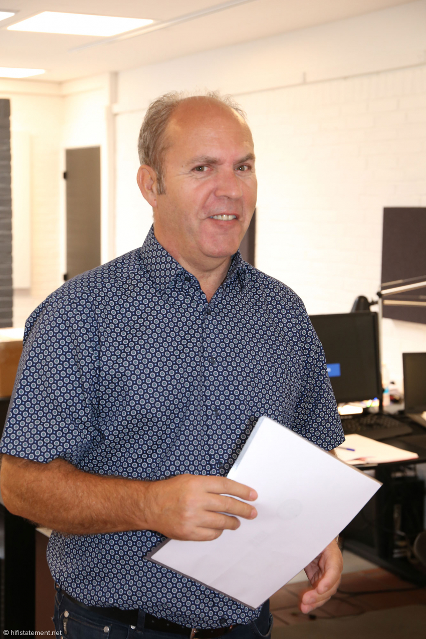 Marketing professional Per Mortensen is not in the company on a daily basis, but was present during our visit