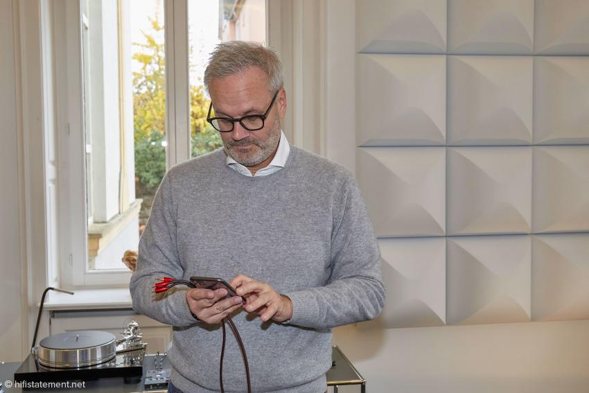 Weder e-mails noch social media: Markolf Heimann steuert digitale Quellen per Smartphone