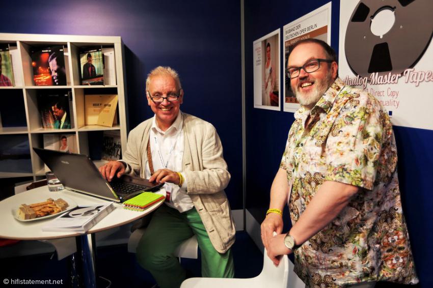 Der Autor (links) und Dirk Sommer auf der Münchener HighEnd vor wenigen Jahren