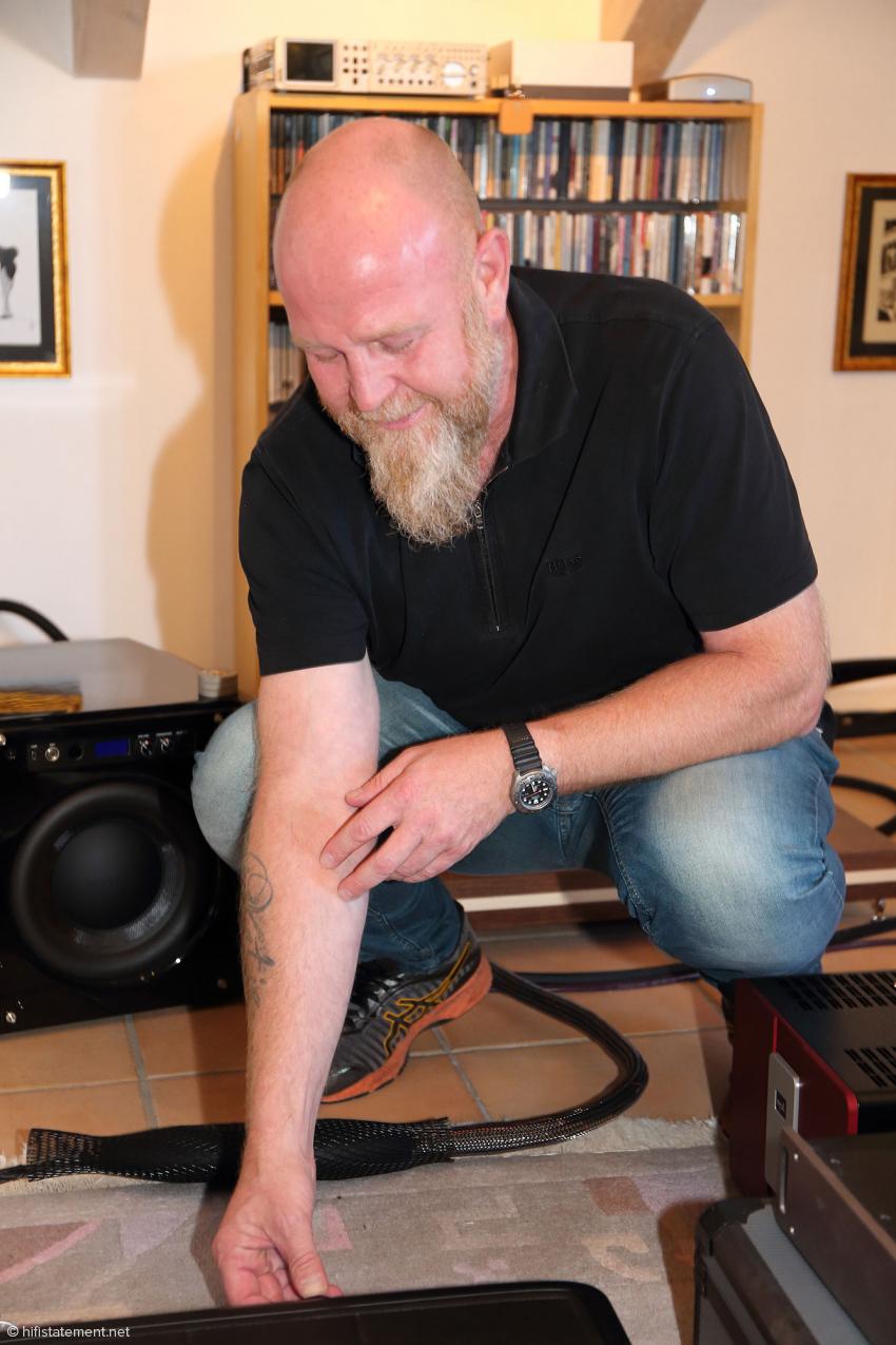 Morten Thyrrestrup in his element: an equipment