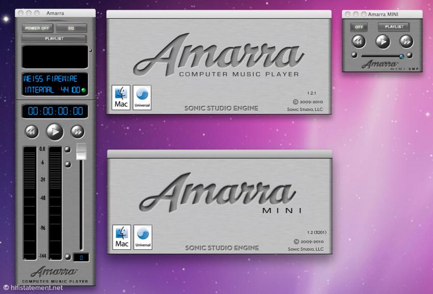 Sonic Studio Amarra und Amarra Mini Computer Music Player
