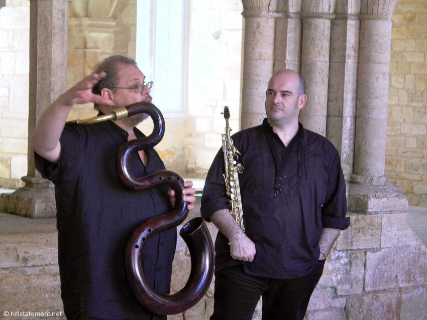Michel Godard, Serpent und Gavino Murgia, Saxophon