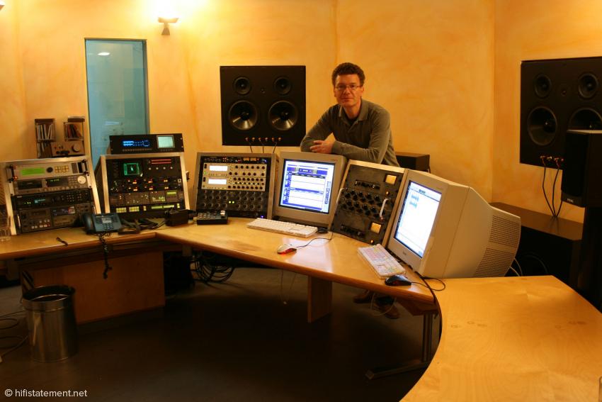 Master der Masterings: Christoph Stickel in seinem Studio