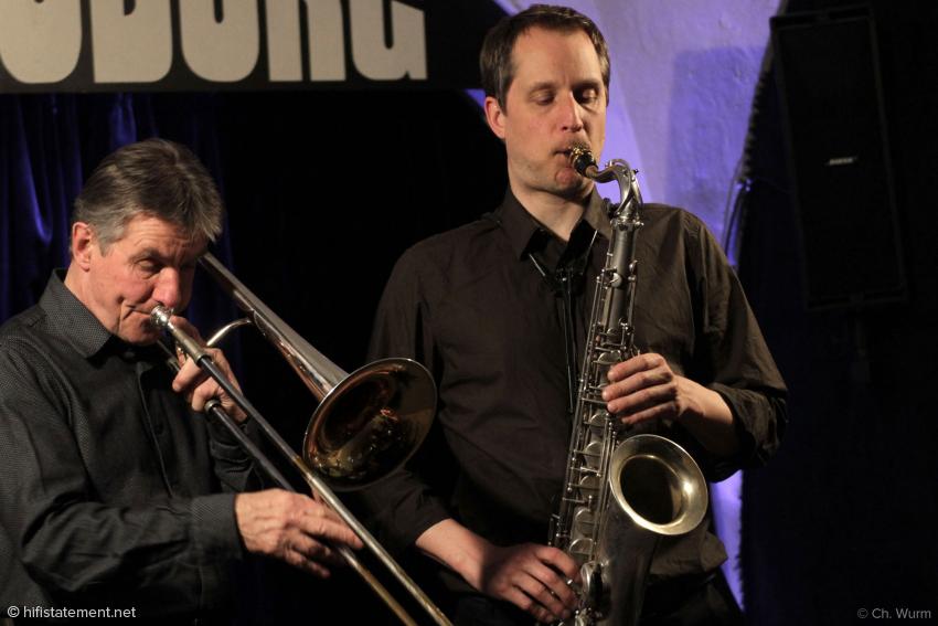 Ed Kröger, Posaune, und Ignaz Dinné, Altsaxophon, präsentierten Standards und Eigenkompositionen