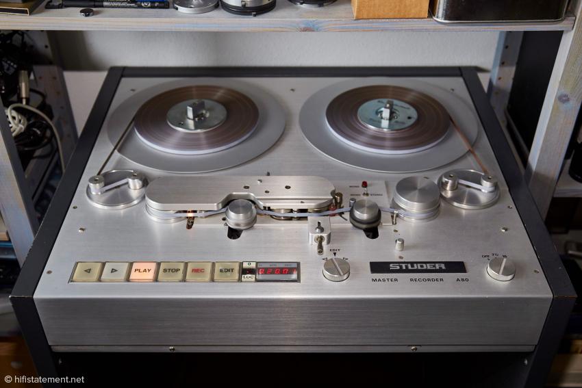 Das Mastertape wurde von einer Studer A80 zugespielt