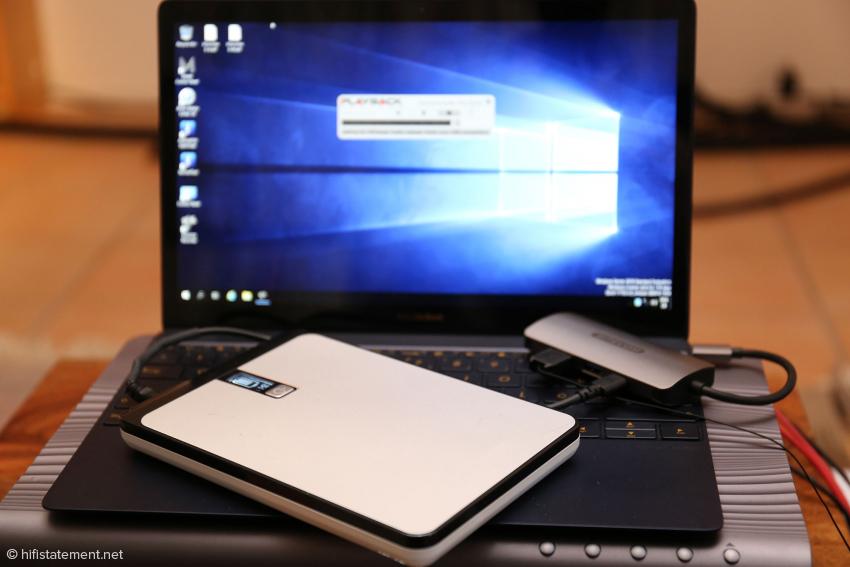 Die dritte Variante: das Notebook wird vom Akku gespeist