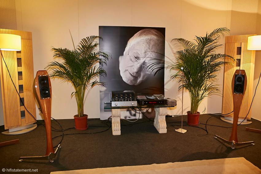In angenehmer Atmosphäre konnte ich die Lignea von Franco Serblin hören. Die Hörkabine in der Messehalle 4 war ansprechend dekoriert