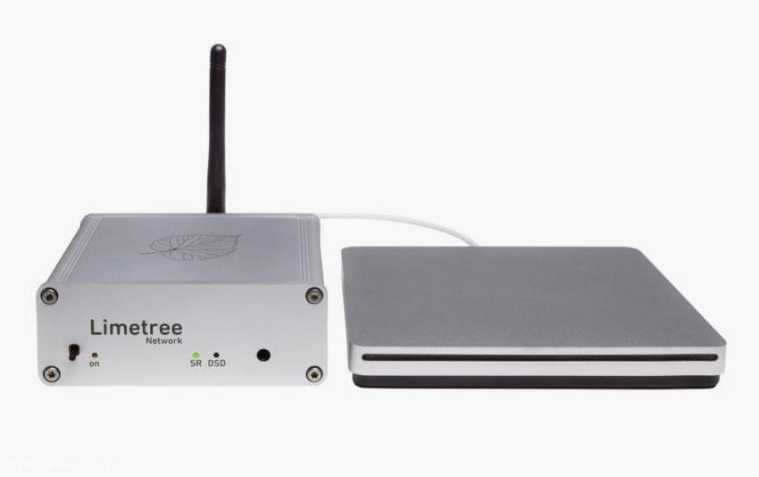 Weltklasse CD-Spieler im Mini-Format: Der Limetree Network mit DSD-Resampling und externem Laufwerk.