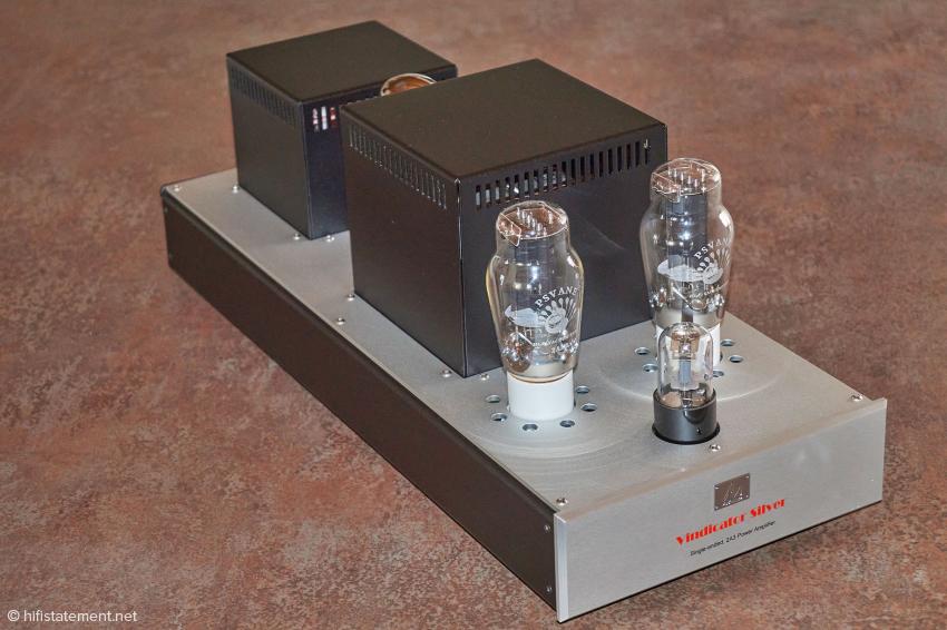 Audio Note Vindicator Silver 2A3 Endstufe in der Ausführung mit eloxiertem Aluminium