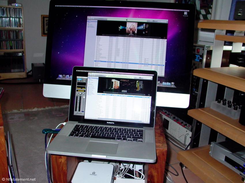 Für den Hörtest lief Amarra 2 auf dem iMac, die Version 1.2 auf dem Laptop, da sich zwei Versionen auf einem Computer gegenseitig blockieren