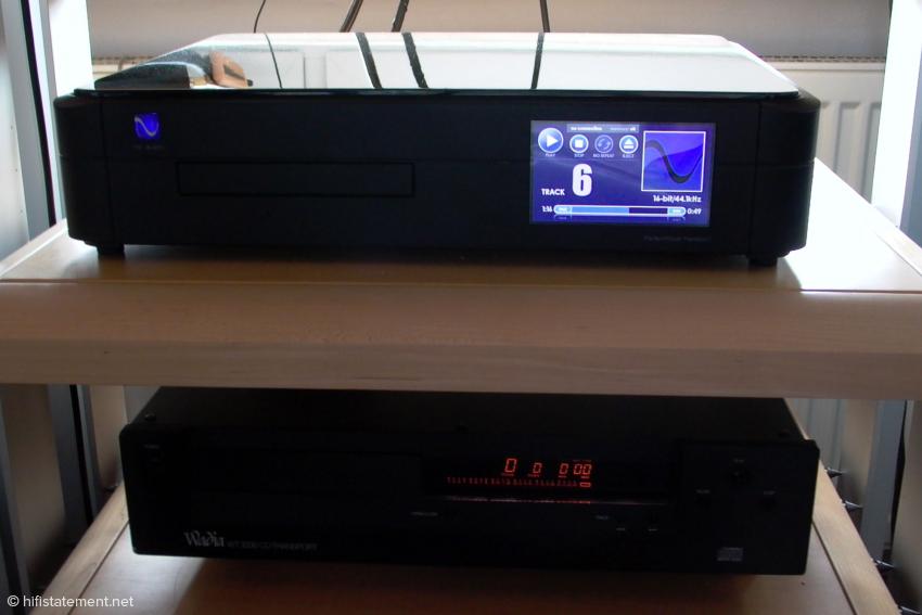 Der PS-Audio Perfect Wave Transport übertrifft klanglich sowohl den Wadia als auch das Plextor-Laufwerk samt Amarra
