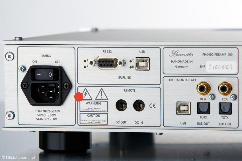 Selbstverständlich lässt sich der Phono Preamp in das Burlink-System integrieren. Bei den Digitalausgängen wünschte ich mir auch einen nach AES/EBU-Norm