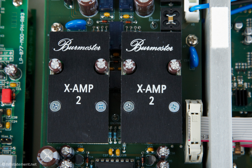 Die X-Amp 2 Module sind diskret aufgebaute Operationsverstärker, die selbst niederohmige Lasten und lange Kabel treiben können