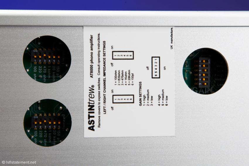 Die Ausfräsungen an der Unterseite ermöglichen eine schnelle Tonabnehmer-Anpassung. Um das Innenleben vor Staub zu schützen, sind der AT8000 Gehäuseabdeckplättchen beigelegt