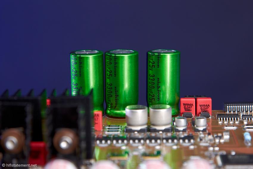 Onbord-Spannungsstabilisierung für die Audioplatine