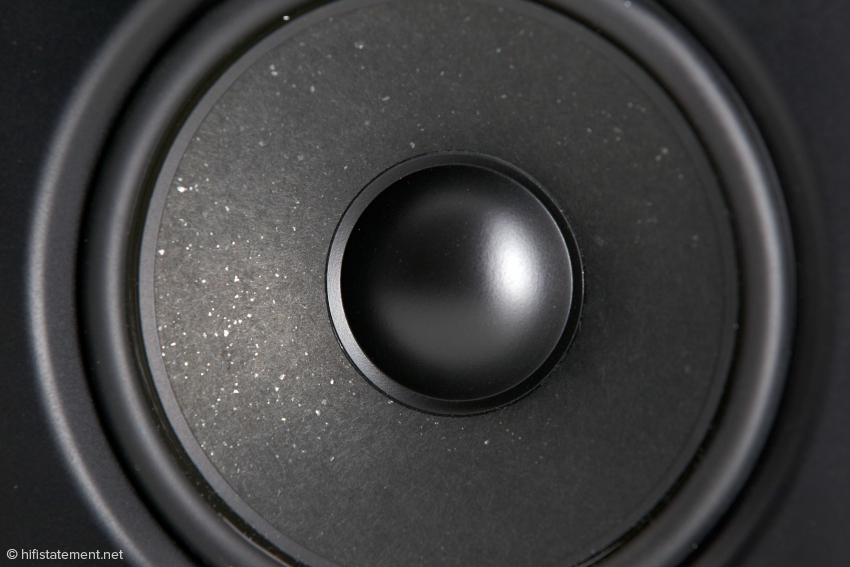 Konservative Anmutung bei modernem Klang verbindet der Tieftöner mit spezieller Beimischung in der Papiermembran