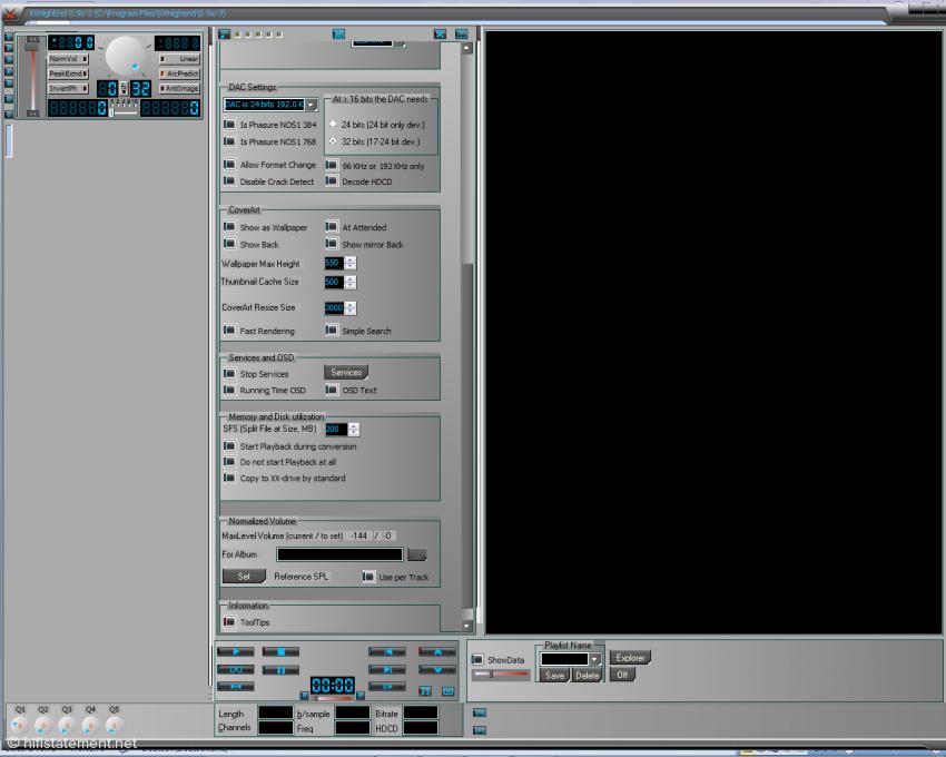 Bild 02: XXHighEnd· 0.9z-3 – Bedienungsfelder für Voreinstellungen