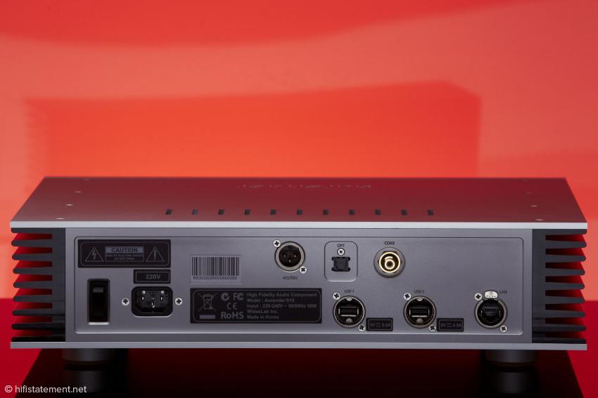 Bis auf I2S sind alle digitalen Anschlussmöglichkeiten vorhanden