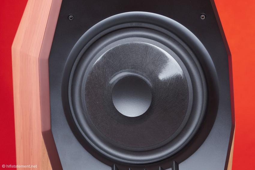 Auch der Tief-Mitteltöner ist in die vorgesetzte Schallwand eingelassen