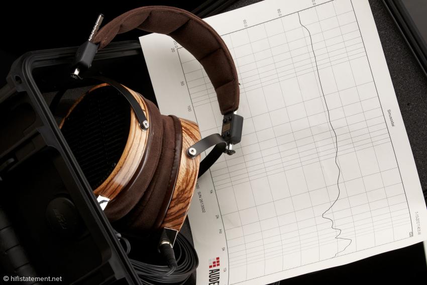 Jeder Kopfhörer kommt mit individuellem Frequenzplot, damit man wirklich weiß, was man hat... genial!