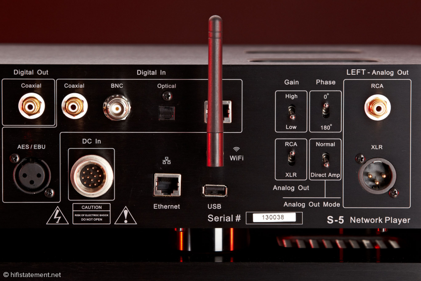 Gut erkennbar die WIFI (WLAN) Antenne für die drahtlose Verbindung zum Router