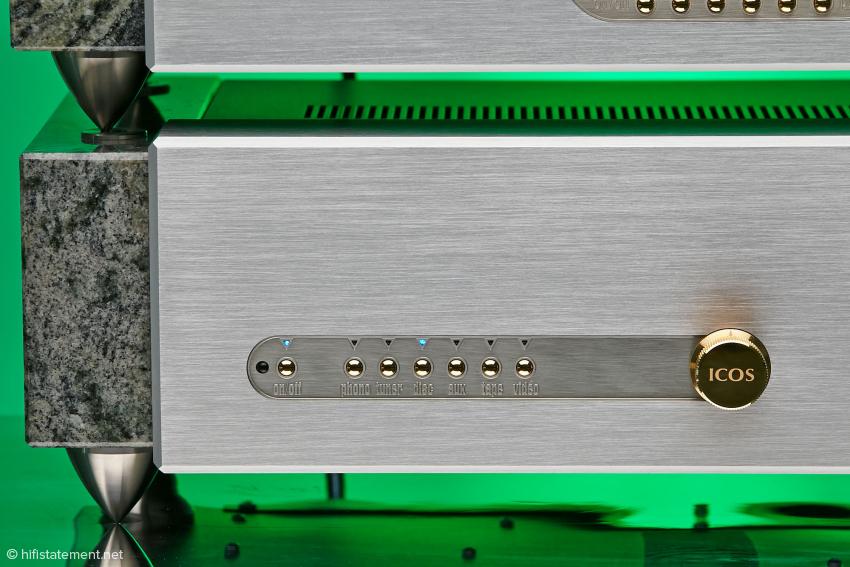 Die Bedienung des Vollverstärkers ICOS 270 Elsberg gibt keine Rätsel auf
