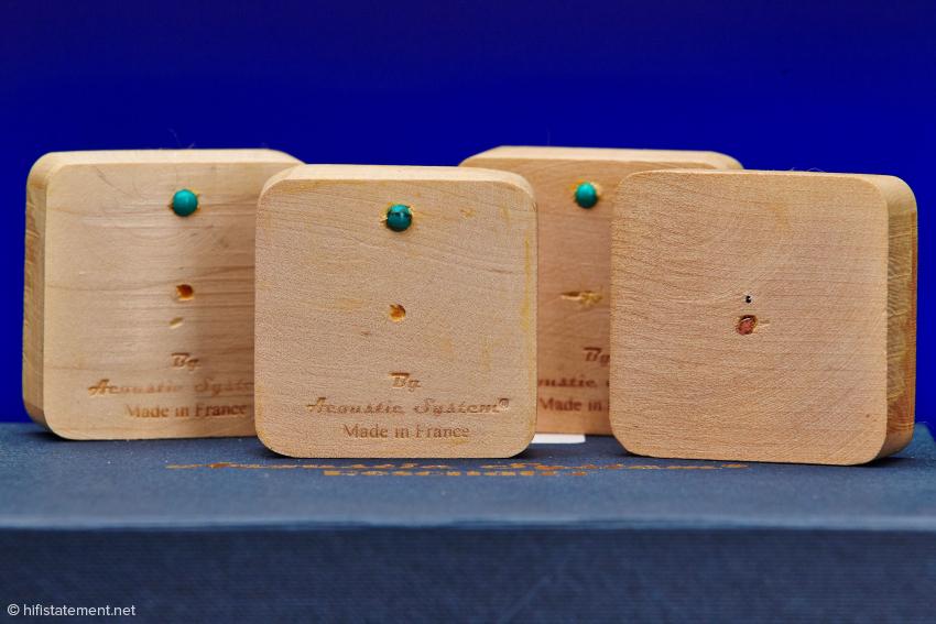 Die vier Phasen-Korrektoren sind einfacher im Finish als die sichtbar anzubringenden Resonatoren