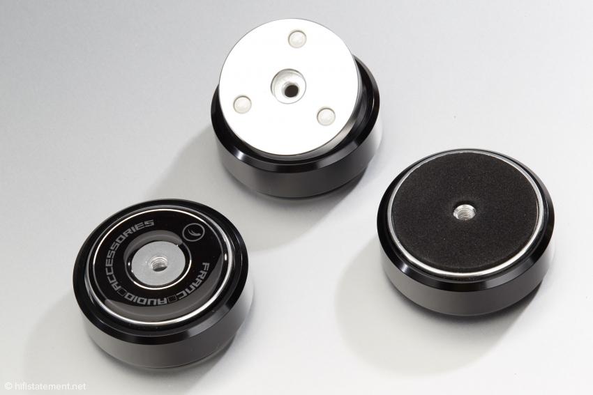 Die Ceramic Disc Slim Foot sind ähnlich aufgebaut wie die Classic, aber nicht höhenverstellbar und kommen ohne obere Kugel aus