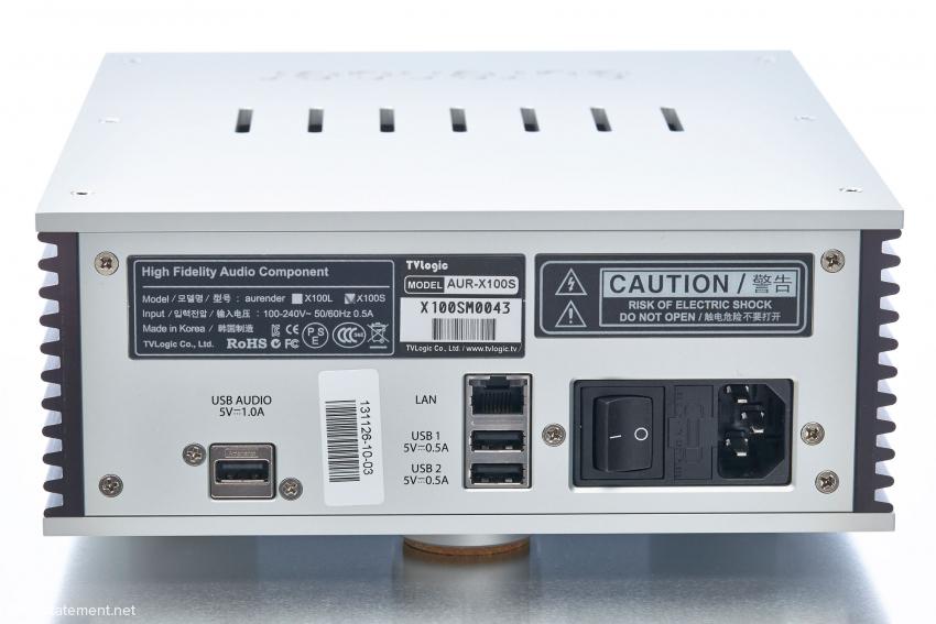 Neben dem LAN-Anschluss existieren drei-USB Buchsen, nur die linke sollte man für die Verbindung zum Wandler hernehmen
