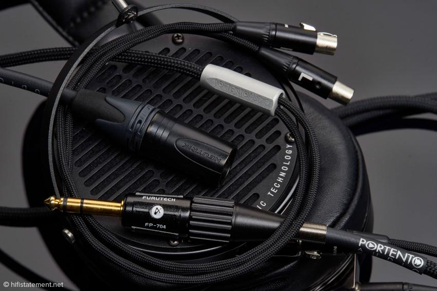 Portento Audio bietet für Audezes LCD-Collection Kabel mit Klinken- und vierpoligem XLR-Stecker an