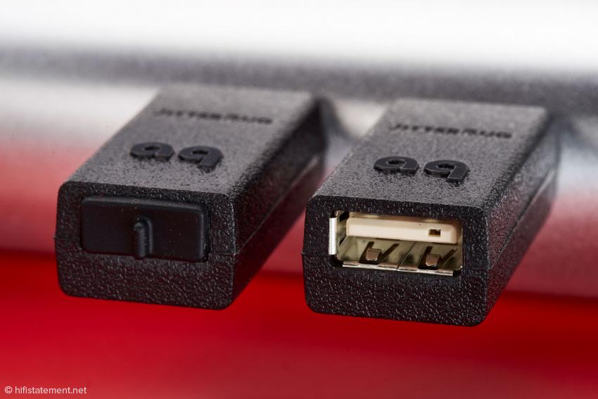 Wenn der Jitterbug nicht im Signalweg liegt, kann die USB-Buchse verschlossen bleiben