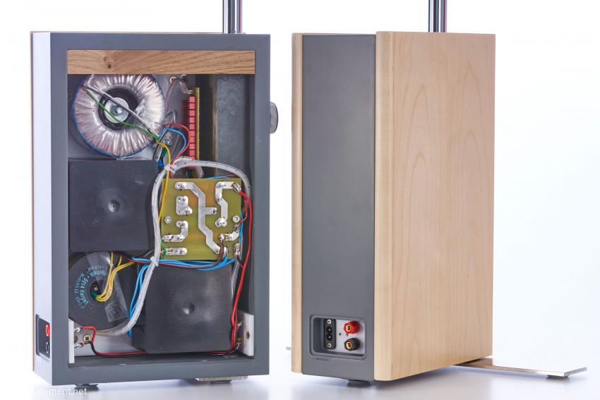 Die gesamte Elektronik findet Platz in dem stabilen Gehäuse aus MDF