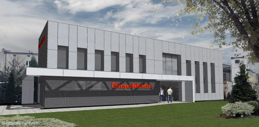 Das neue Firmengebäude für Entwicklung, Verwaltung und Produktion in Zgierz, Polen, wird zur Zeit bezogen