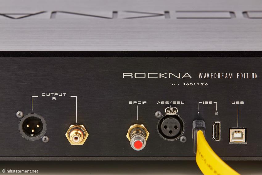 Idealerweise werden der Hydra Z und der Rockna Wavedream über die I2S-Schnittstelle mit einem HDMI-Kabel verbunden