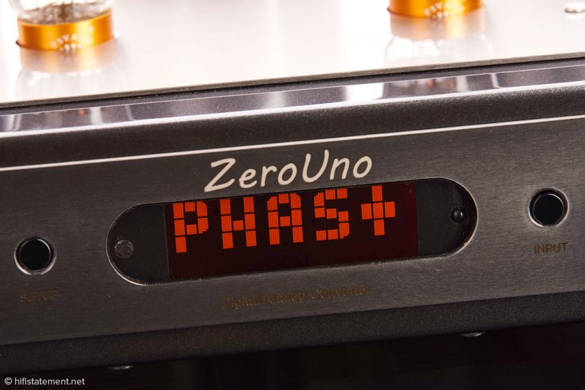 Das Display des ZeroUno mit nicht invertierter Einstellung der Phase