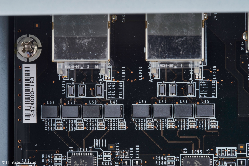 Melco applies sophisticated filtering to both ethernet ports